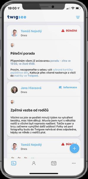 Twigsee - Online nástěnka pro MŠ