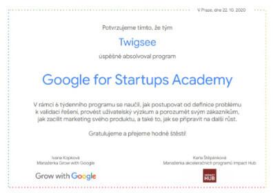 Google startup academy – SK